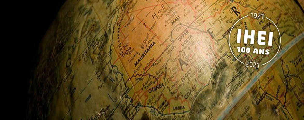 Visuel de globe terrestre - 100 ans de l'IHEI