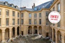 Photo de la cour d'honneur du centre Panthéon - 100 ans de l'IHEI